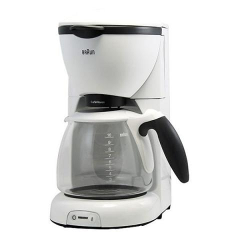 BRAUN KF520 COFFEE MAKER - 1200 W- 10 CUPS-FILTER-WHITE