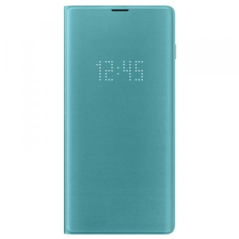 SAMSUNG GALAXY S10+ LED VIEW COVER (GREEN)