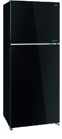 HAIER REFRIGERATOR 384 L-Glass Doors-Black Glass HRF-479FITG GB