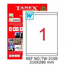 TANEX Folder backing labels colored TW2104
