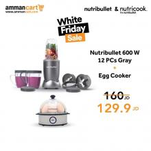 Nutribullet 600W + Egg Cooker