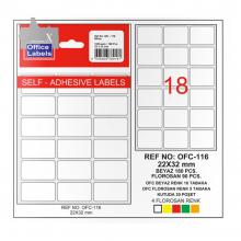 TANEX Computer label Set 16+2 Pcs LCJDVD