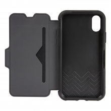 OtterBox Strada Series Folio Case for iPhone X Shadow Black