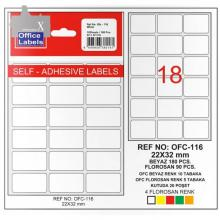 TANEX Office labels for handwriting OFC116