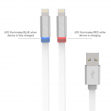 SCOSCHE FlatOut LED - Charge & Sync Lightning 3FT Cable