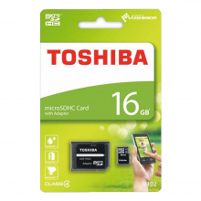 Toshiba 16GB Micro SD + Adapter