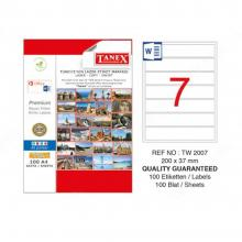 TANEX pallet labels 7 Pcs TW-2007