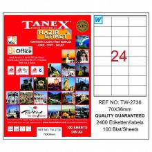 TANEX Address labels TW2736